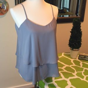 Francesca Light Gray Top- Size L